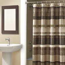 Brown Ruffle Shower Curtain by Bathroom Bohemian Shower Curtain White Ruffle Shower Curtain