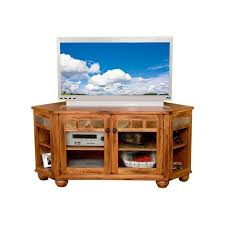 sunny designs 2741ro tc sedona corner hutch and tv console in