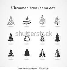 tree icons set stock vector 235096768