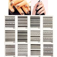 black lace nail art nail stickers 30 sheets u2013 allydrew