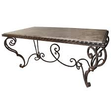 Marble Table Tops For Sale by French Iron Marble And Coffee Table For Sale At 1stdibs