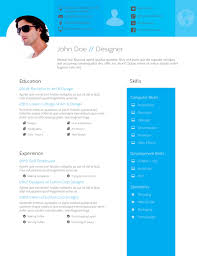 Resume Templates For Indesign Flat Design