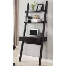 Leaning Ladder Desk by Coaster Desks Wall Leaning Writing Ladder Desk Cappuccino 801373