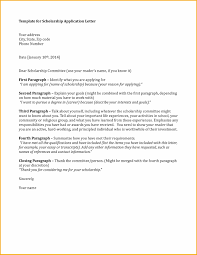 sample cover letter for scholarship application cover letters for