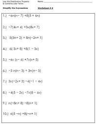 algebra worksheets for simplifying the equation algebra