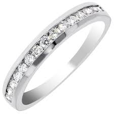 channel set wedding band 0 45 carat channel set brilliant cut wedding band diamond