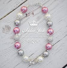 chunky necklace pearl images Pink silver pearl chunky necklace adelia jade jpg