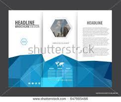 creative blue trifold business brochure design template download