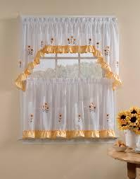 Sunflower Valance Curtains Sunflower Kitchen Curtains And Valances The Cheerful Sunflower