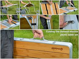Folding Picnic Table Designs by Wooden Folding Picnic Table And Chairs Zenboa