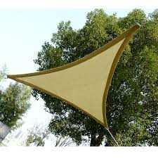 outsunny triangle 12 u0027 canopy sun sail shade garden cover uv