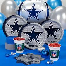 Dallas Cowboys Flags And Banners Dallas Cowboys Nfl Football Birthday Party Supplies Kit Pack