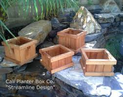 Redwood Planter Boxes by Tall Modern Redwood Planter Boxes Free Shipping 10 50