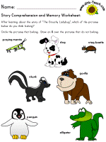 the grouchy ladybug story comprehension u0026 memory worksheets