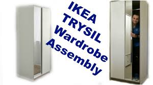 ikea wardrobes ikea wardrobe trysil white mirror assembly youtube