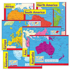continents on map continent map amazon com