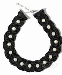 jewelry statement necklace images Black tie necklace the pearl girls southern pearl jewelry jpg