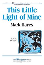 instrumental this little light of mine download this little light of mine sheet music by mark hayes sheet