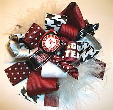 alabama ribbon 72 best football bows images on hair bows hairbows