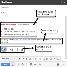 creating an email signature for your company