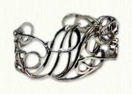 Monogram Bracelet Sterling Silver Custom Monogram Bracelets Create Your Own Monogram Bracelet At