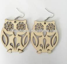 new design laser cut owl wood earrings wj005 buy owl wood