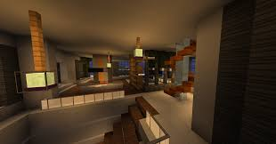 minecraft home interior modern mountain house