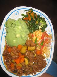 beef stew irio rice pilau sukuma and kachumbari anne u0027s