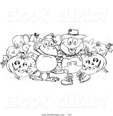 vector clip art of a black and white coloring page outline of a