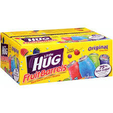 huggie drinks hug assortment blue raspberry grape orange punch fruit