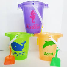 personalized buckets personalized sand with shovel for 6 99 6 colors