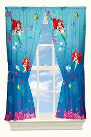 disney little mermaid drapes flower swirls window curtains amazon