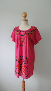 on sale hand embroidery mexican dress oaxacan dress