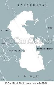russia map border countries caspian sea region political map with borders and countries