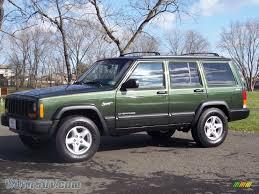 tan jeep cherokee 1997 jeep cherokee sport 4x4 in emerald green pearlcoat 571494