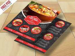 flyer menu template restaurant food menu flyer free psd psd