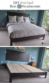 King Platform Bed Build by Diy Hotel Style Headboard U0026 Platform Bed Platform Beds Chevron