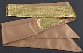satin sash belt strait city image sequin satin sash gold sfs1151