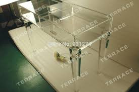 clear plastic console table clear vanity table clear acrylic vanity drawer console table in