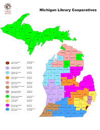 Michigan On Us Map by Michigan Library Cooperative Directors Association