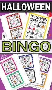 Printable Halloween Crossword by Printable Halloween Bingo Cards Itsy Bitsy Fun