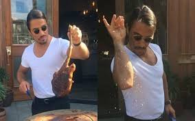 Leonardo Meme - leonardo dicaprio gets his meat seasoned by meme king salt