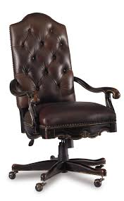tufted leather desk chair hooker furniture grandover tufted leather executive office chair