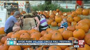 Pumpkin Farms In Wisconsin Dells by Pumpkins Galore At Hyde Park Village Circle Fall Festival Youtube