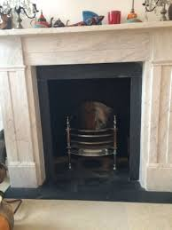 fireplace installation marble victorian surround with slate slips