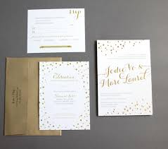 wedding invitations gold and white wedding invitations metallic foil sting gold white 1