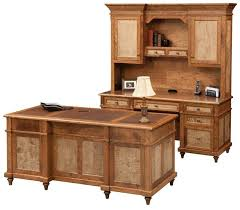 C Shaped Desk Bridgeport Executive Desk From Dutchcrafters Amish Furniture