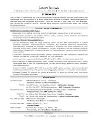 It Management Resume Examples by Information Technology Resume