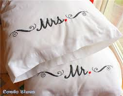 handmade wedding gifts condo blues handmade wedding gift idea mr and mrs pillowcases