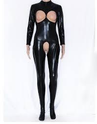 leather jumpsuit dower me playsuit catsuit fashion faux leather jumpsuit costume